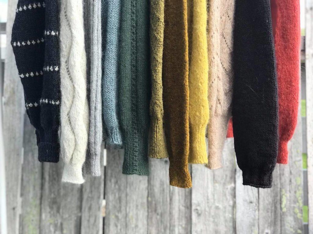 Strikkekista hengende gensere